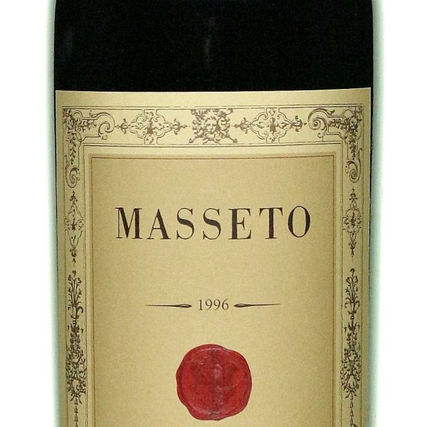 A bottle of Masseto 1996 from Tuscany