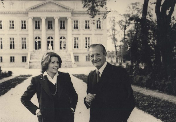 Corinne and André Mentzelopoulos at Château Margaux