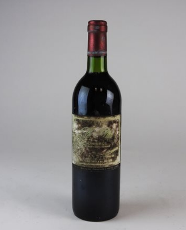 Bottle of 1982 Le Pin red wine from Pomerol, Bordeaux