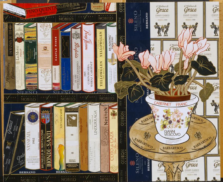 Wine library by Valentino Monticello
