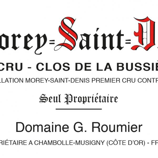 Domaine G. Roumier Morey-St-Denis 1er Cru Clos de la Bussière
